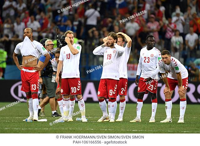 Team photo, team, team, team photo Denmark, disappointment, frustrated, disappointed, frustratedriert, dejected, on penalties, v