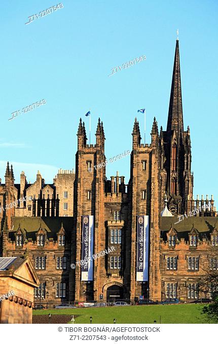 UK, Scotland, Edinburgh, Old Town, skyline,