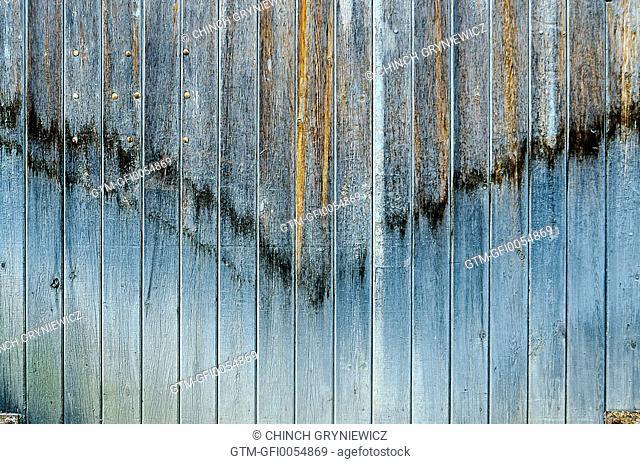 'V' Pattern on Old Wooden Gate