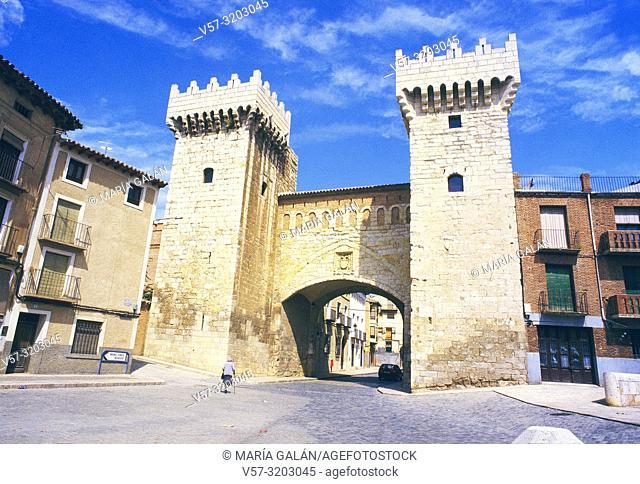 Medieval gate. Daroca, Zaragoza province, Aragon, Spain