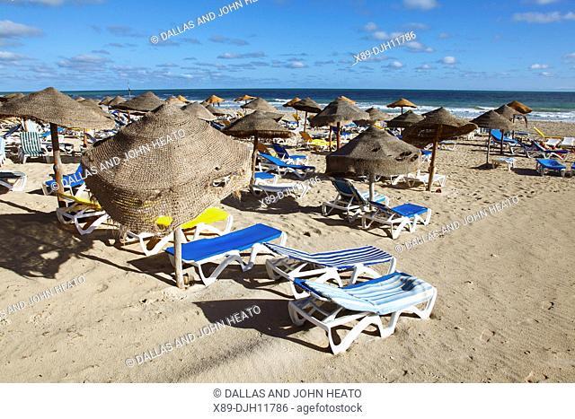 Africa, Tunisia, Djerba Island, Sidi Mahrez, Tourist Zone Beach on the Mediterranean Sea