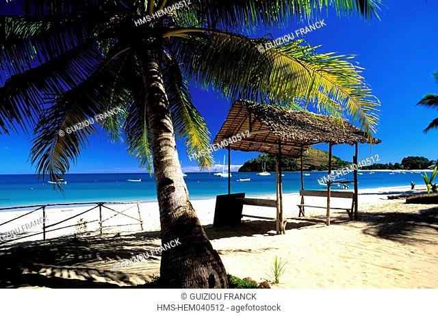 Madagascar, Nosy Be island, the beach of Ambatoloaka