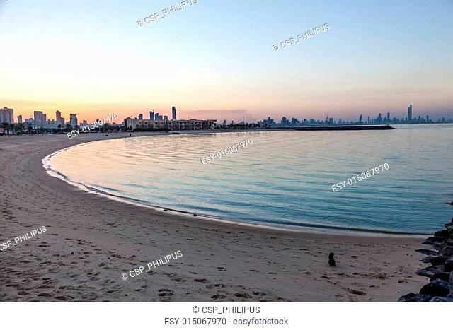 Marina Beach in Kuwait City, Middle East