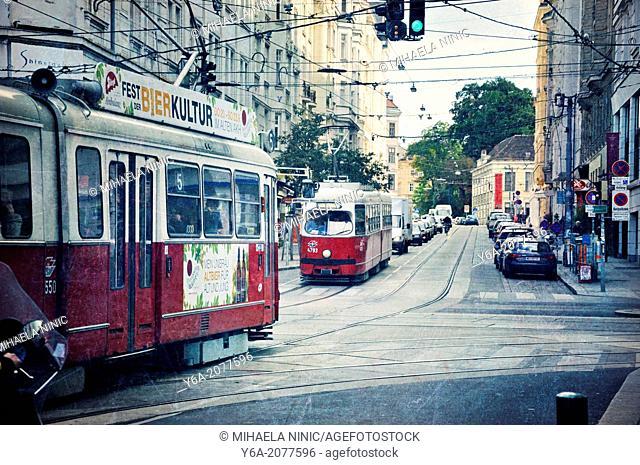 Urban street scene, Vienna, Austria