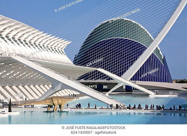 Agora building, City of Arts and Sciences built by Calatrava, Valencia, Comunidad Valenciana, Spain
