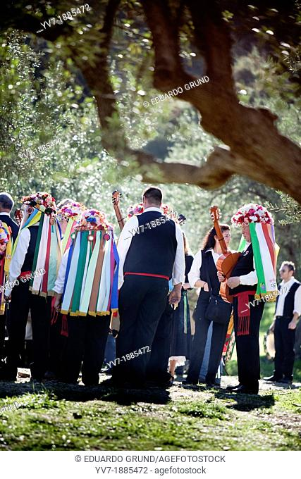 Verdiales Group  Verdiales Festival  Malaga, Andalusia, Spain