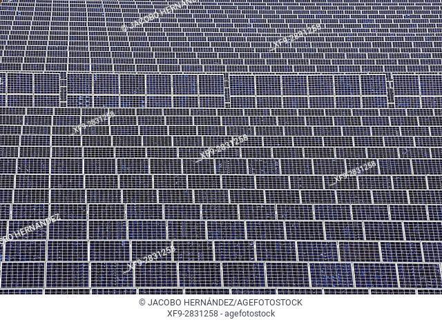 Solar photovoltaic electric plant.Vegas Bajas del Guadiana.Badajoz province.Extremadura .Spain