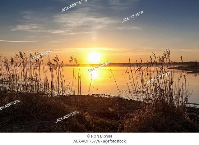 The rising sun, Barrie Island, Manitoulin Island, Ontario, Canada