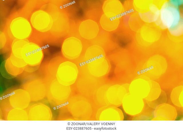 yellow and green dark flickering Christmas lights