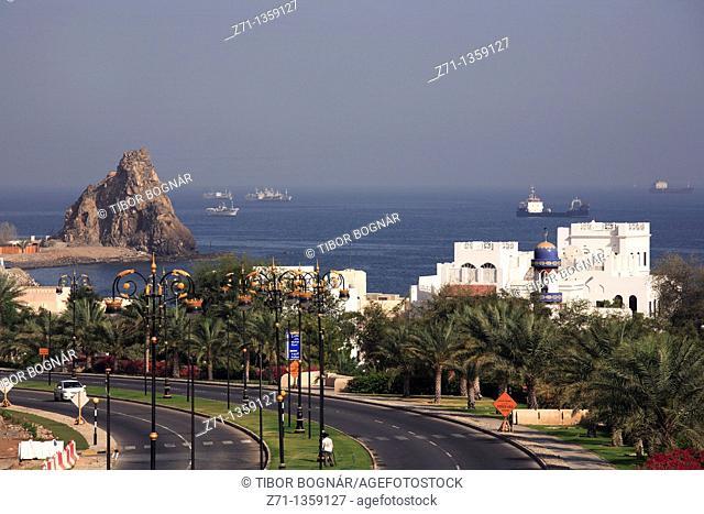 Al-Bahri seaside road, scenery, Muscat, Oman