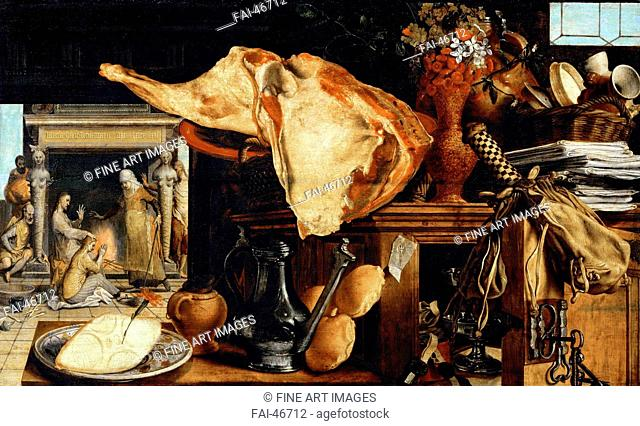 Vanity Still Life (Christ in the House of Martha and Mary) by Aertsen, Pieter (1508-1575)/Oil on wood/Early Netherlandish Art/1552/The Netherlands/Art History...