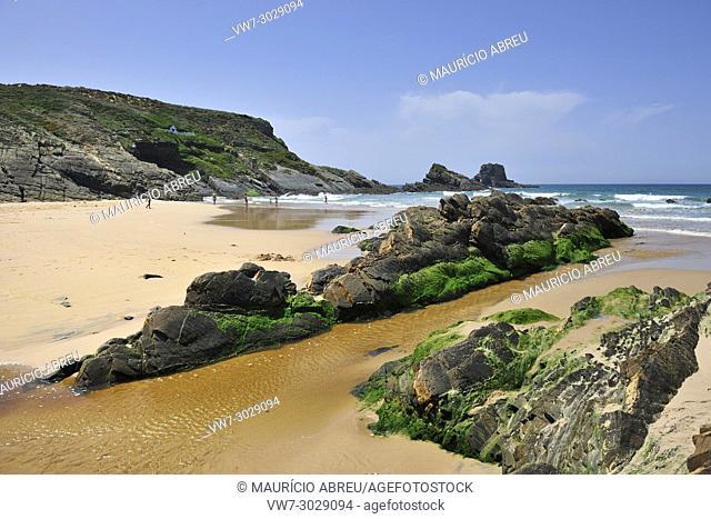 Beach of Zambujeira do Mar. Alentejo, Portugal