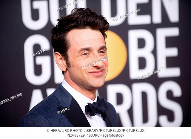 Golden Globe nominee Justin Hurwitz attends the 76th Annual Golden Globe Awards at the Beverly Hilton in Beverly Hills, CA on Sunday, January 6, 2019