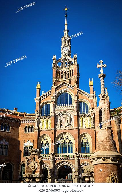 Sant Paul hospital a modernism architecture in Barcelona Catalonia Spain