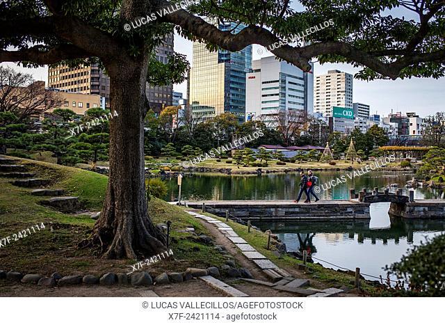 Kyu Shiba Rikyu garden, Tokyo, Japan