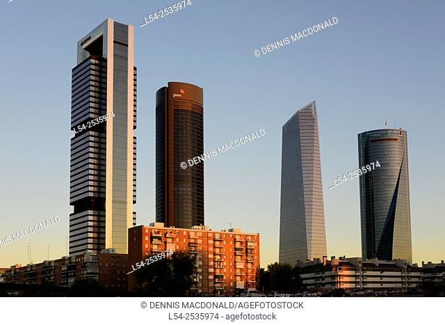 Cuatro Torres Towers Madrid Spain ES
