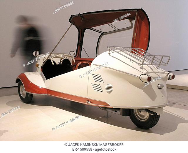 Messerschmitt bubble car, Mitomacchina exhibition, Museum of Modern Art, MART, Rovereto, Italy, Europe