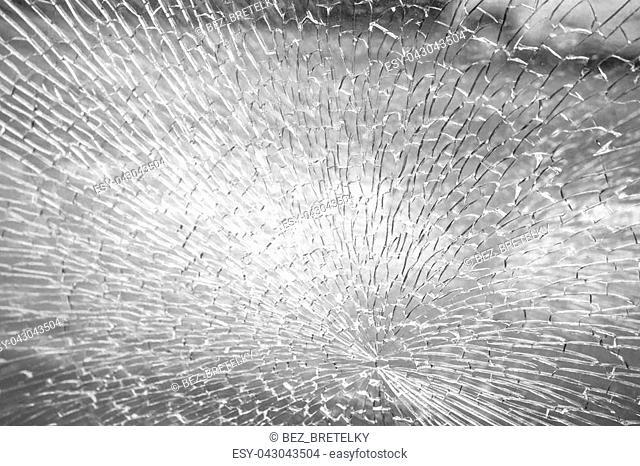 Broken glass light texture background, design element