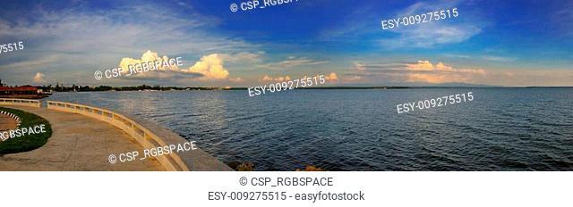 Cienfuegos bay panorama, cuba
