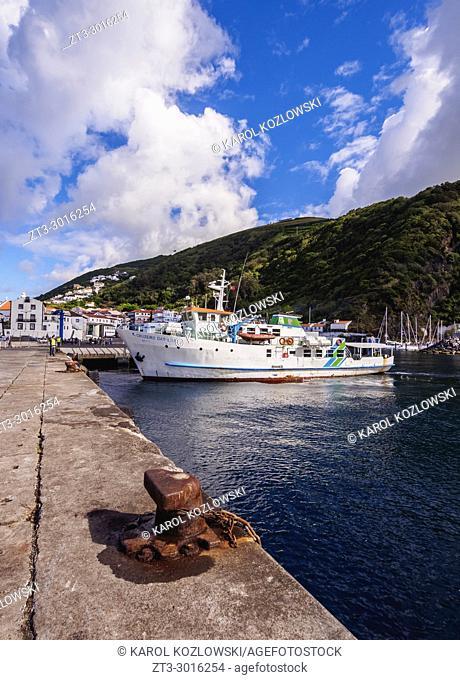 Port in Velas, Sao Jorge Island, Azores, Portugal