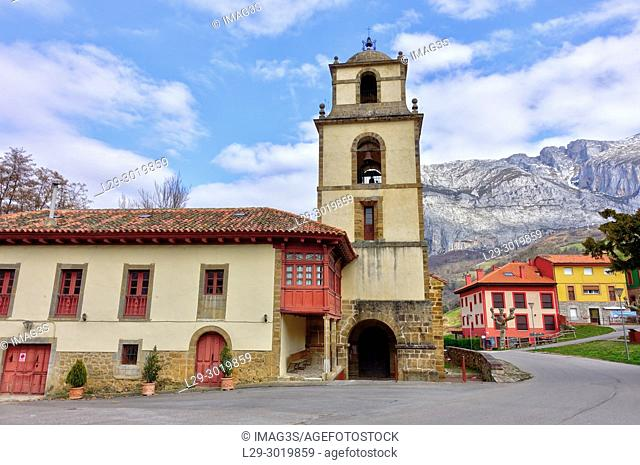 Collegiate Church of San Pedro in Concejo de Teverga. Asturias, Spain