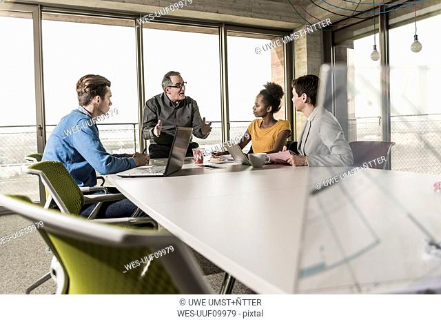 Business meeting in office