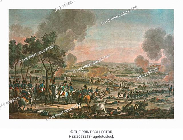 Battle near Wagram, 7 July 1809, (c1850). Artist: Louis Francois Mariage