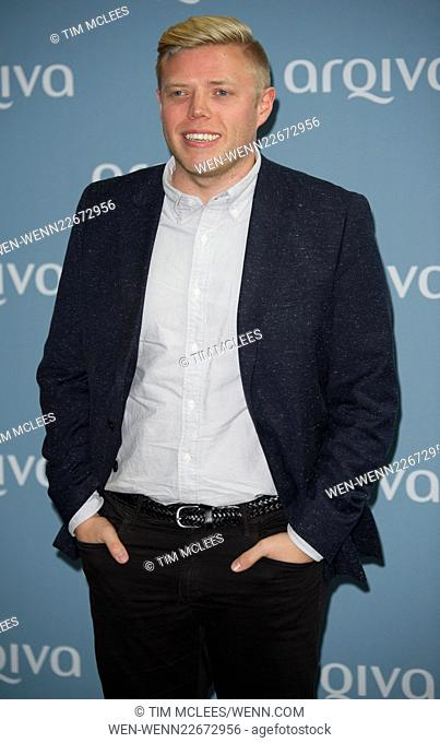 Arqiva Awards - Arrivals Featuring: rob beckett Where: London, United Kingdom When: 08 Jul 2015 Credit: Tim McLees/WENN.com