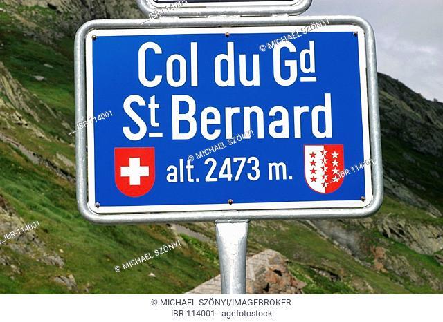 Saint Bernard pass, connecting the Wallis (Switzerland) with Italy