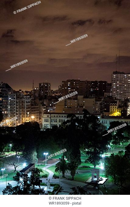 Cityscape at night, Buenos Aires, Argentina, South America