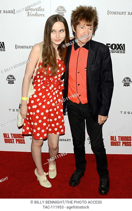 Kansas Bowling and Rodney Bingenheimer attends the Los Angeles Premeire of Gravitas Ventures All Things Must Pass at the Harmony Gold Theater Hollywood