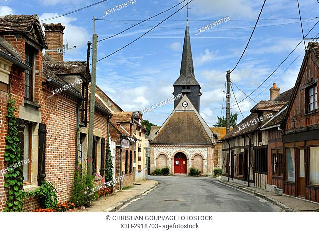 St-Martin church in the center of the village of Vannes-sur-Cosson in Sologne, Loiret department, Centre-Val de Loire region, France, Europe