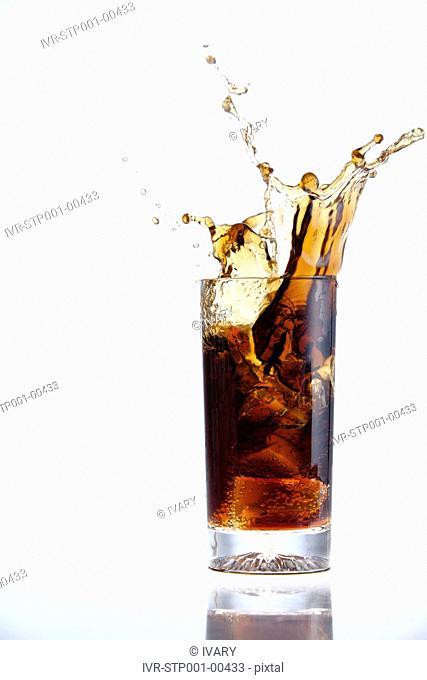 Drink Splashing In A Glass
