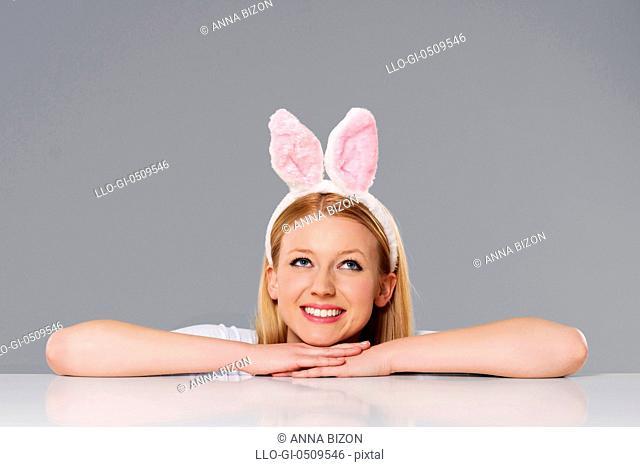 Dreaming Easter bunny woman Debica, Poland