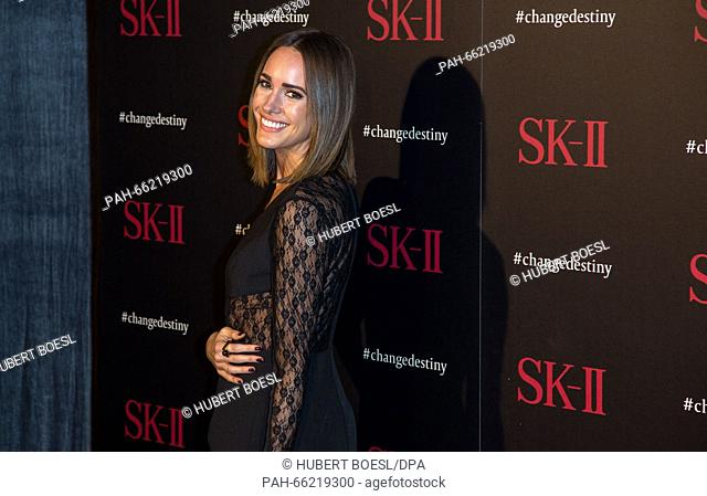 Louise Roe arrives a thet SK-II #ChangeDestiny photocall at Andaz Hotel in Los Angeles, USA, on 26 February 2016. Photo: Hubert Boesl