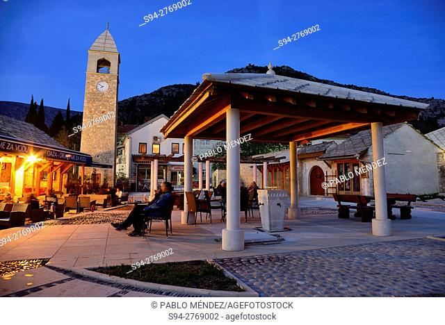 Main square of Stolac, Bosnia and Herzegovina