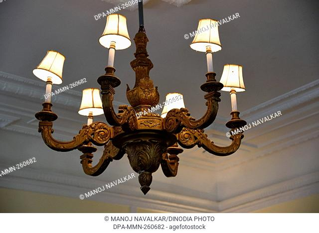 Chandelier at Chail Palace, Himachal Pradesh, India, Asia