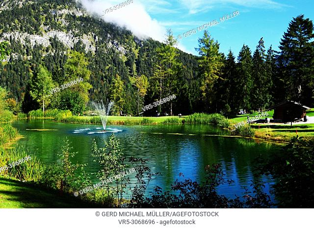 18 hole golf course in Pertisau at Lake Achen in Tyrol