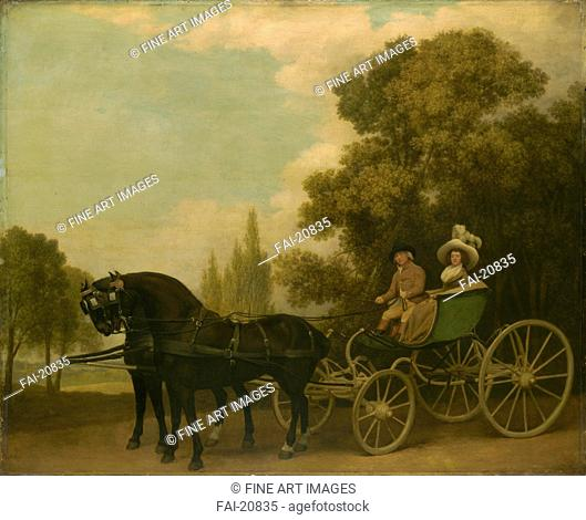 A Gentleman driving a Lady in a Phaeton. Stubbs, George (1724-1806). Oil on canvas. Classicism. 1787. Great Britain. National Gallery, London