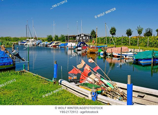 Little natural harbor at Loddin, Usedom, Germany