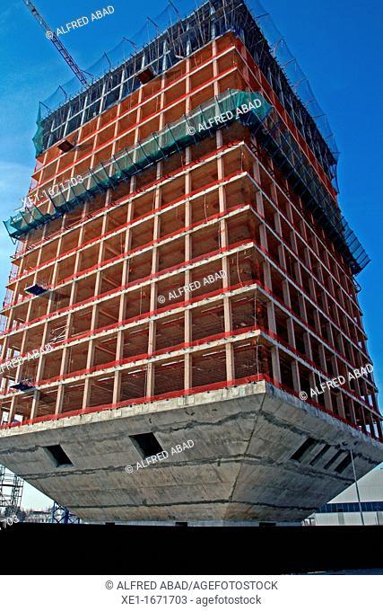 building in construction, Zona Franca, Barcelona, Catalonia, Spain