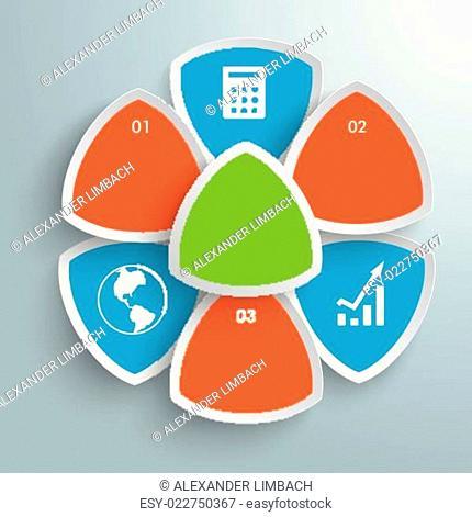 Round Triangles Flower Infographic PiAd
