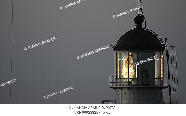 Lighthouse at Machichaco Cabot, Biscay, Basque Country, Spain
