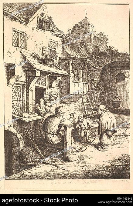 The Humpbacked Violinist. Artist: Adriaen van Ostade (Dutch, Haarlem 1610-1685 Haarlem); Date: 1610-85; Medium: Etching; Dimensions: Sheet: 6 5/16 x 4 5/16 in