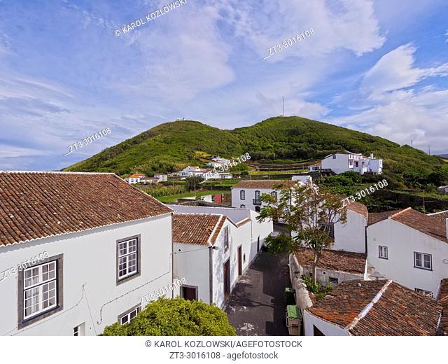 Santa Cruz, elevated view, Graciosa Island, Azores, Portugal