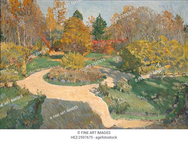 Garden in Autumn. Found in the collection of the Regional I. Kramskoi Art Museum, Voronezh
