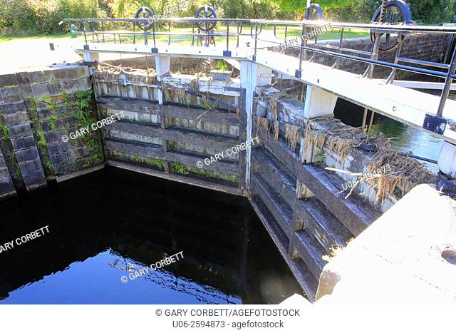 A lock in the Rideau Canal in Smith Falls, Ontario, Canada