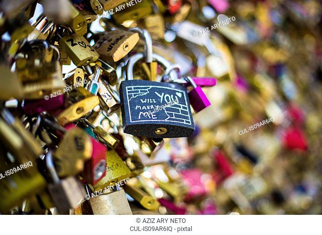 Love Locks, Pont des Arts, Paris, France