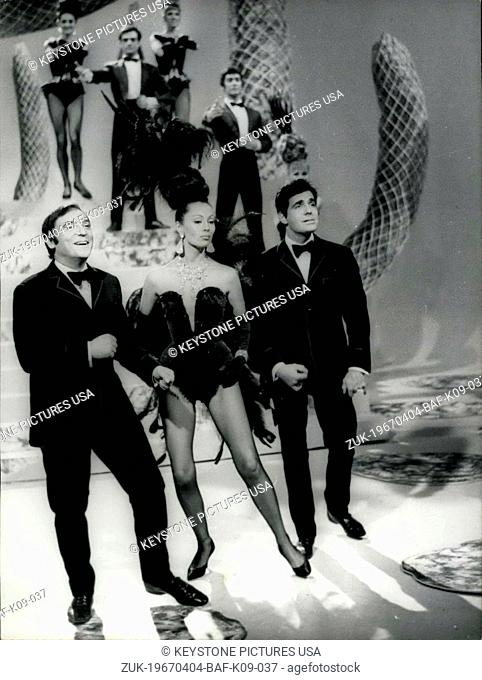 Apr. 04, 1967 - Brilliant Trio For New T.V. Show: Claudine Coster, A young singer and dancer, will star the new TV show together with Roger Pierre and Jean-Marc...
