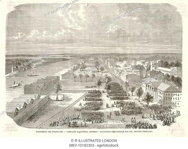 Sherman's ruthless march through Georgia culminates in the occupation of Savannah.  Though justifiable from a military point of view